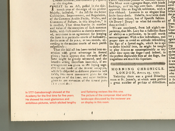 Detail of newspaper reprinted from a British Library bromide