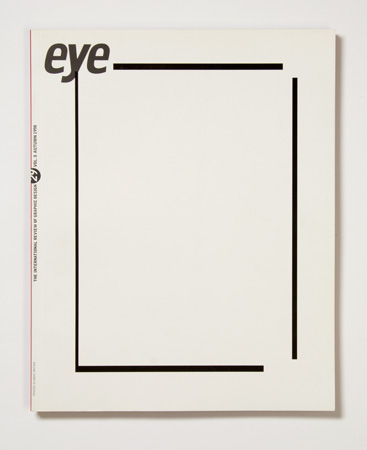 Issue 29 front cover by Lawrence Weiner