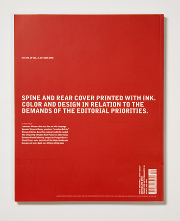 Issue 29 back cover by Lawrence Weiner