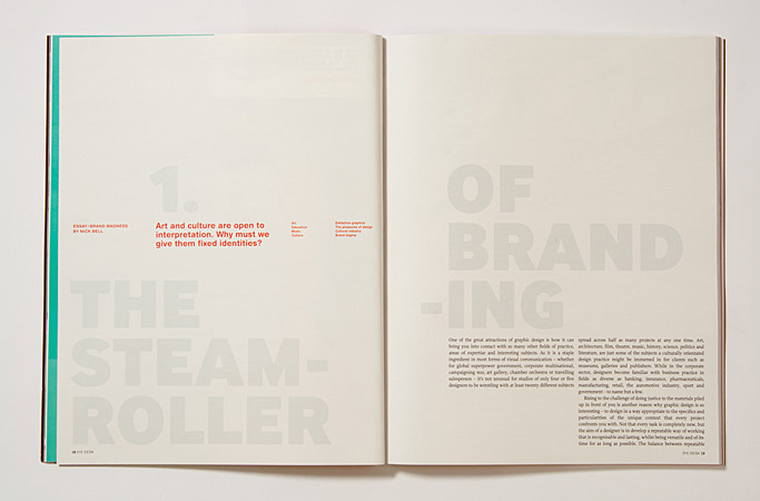 Issue 53: the steamroller of branding by Nick Bell