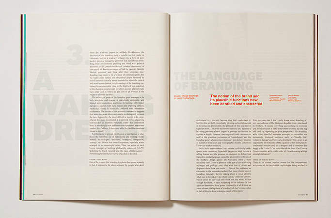 Issue 53: the language of branding by David Thompson