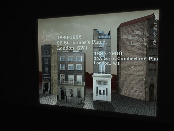 Graphic projection: Churchill's homes