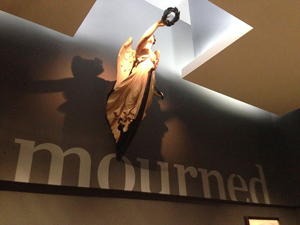 Figurehead over area title in A Hero Mourned