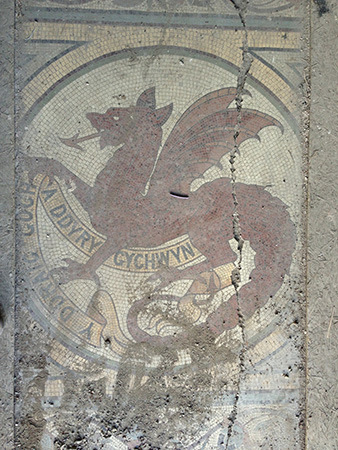 The Town Hall entrance mosaic as found.